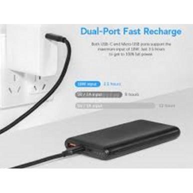 Baseus Bipow Quick Charge PD plus QC3.0 10000mAh Power Bank - PPDML-01