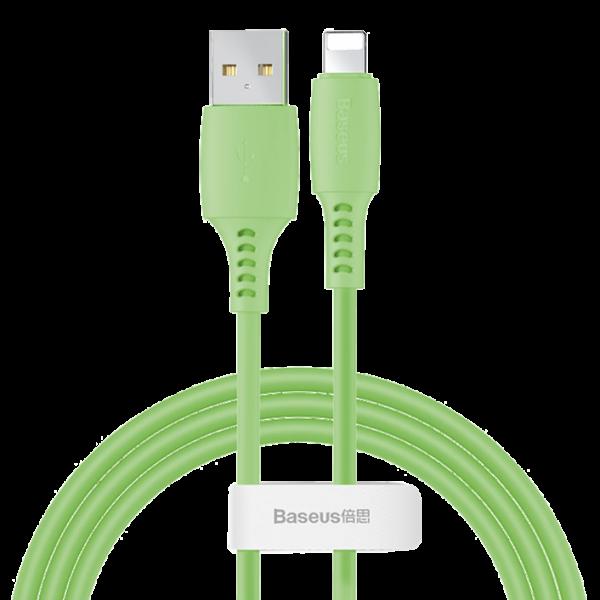 BASEUS CABLE USB LIGHTNING 2.4A 1.2M Green (CALDC-06)