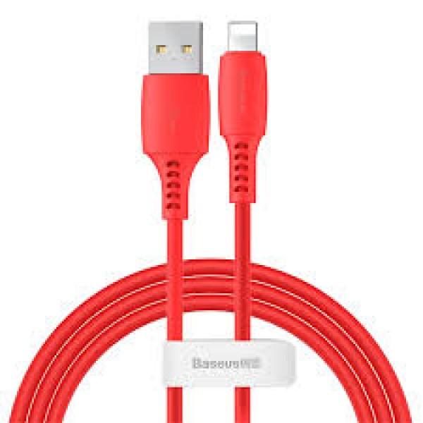 BASEUS CABLE USB LIGHTNING 2.4A 1.2M RED (CALDC-09)