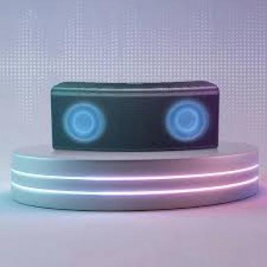 Baseus Encok E08 Wireless bluetooth Speaker HiFi Dual Drivers Bass Stereo LED Light TF Card AUX Soundbar with Mic - Black