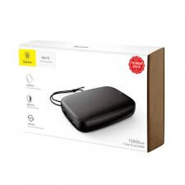 Baseus Mini Q Power Bank 10000mAh (M plus T Input Output 50 Cm Micro Cable) PPALL-BXQ02 White and Black