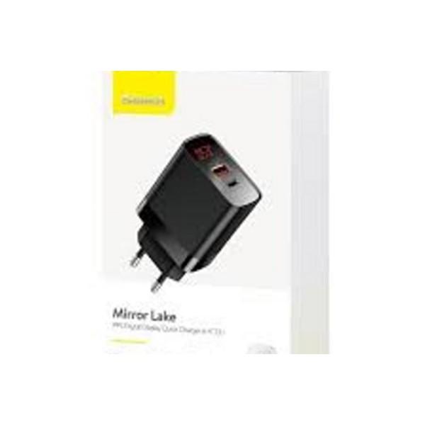 Baseus Mirror Lake Series 18W Quick Charger A plus C - EU Plug (Black) – CCJMHC-Black