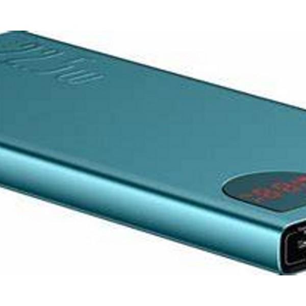 Baseus Power Bank Adaman Metal Digital Display Quick Charge 22.5W 10000 mAh Green (PPIMDA-B06)
