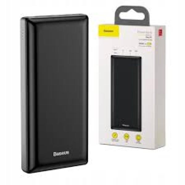 Baseus PPJAN-C01 Mini JA 30000 mAh Power Bank, USB/USB-C PD/micro USB/Lightning 3A - Black