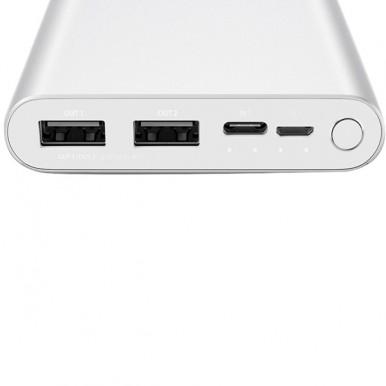 Xiaomi Power Bank 10000 mAh PLM13ZM USB Type C Fast Charging Mi Powerbank 10000 Portable Charger Powerbank Silver