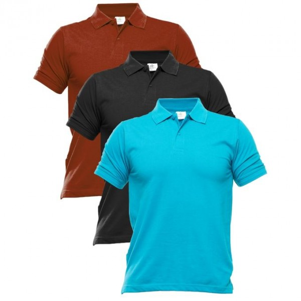 Pack Of Three Polo T-Shirt For Him - FREE DELIVERY