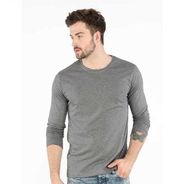 Grey Full Sleeves T-Shirt For Him - FREE DELIVERY