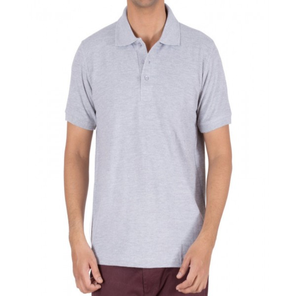 Ash Grey Polo T-Shirt For Him - FREE DELIVERY
