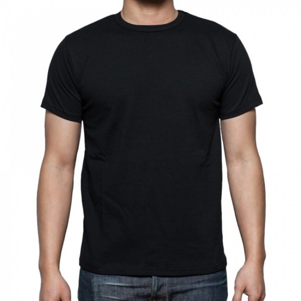 Plain Black T-Shirt For Him - FREE DELIVERY