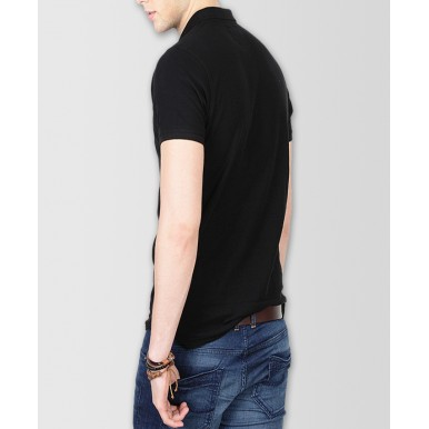 Black Polo T-Shirt For Him - FREE DELIVERY