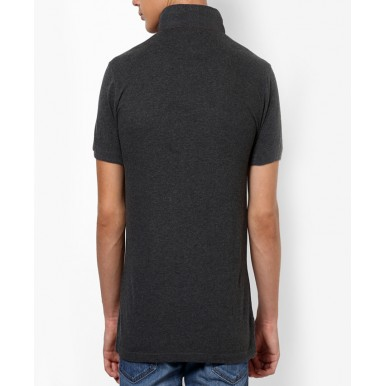 Charcoal Black Polo T-Shirt For Him - FREE DELIVERY