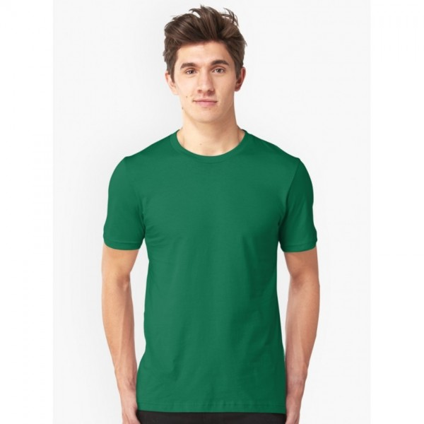 Plain Green T-shirt For Him - FREE DELIVERY