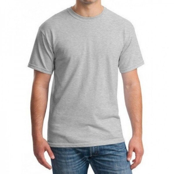 Plain Grey T-Shirt For Him - FREE DELIVERY