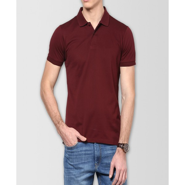 Maroon Polo T-Shirt For Him - FREE DELIVERY