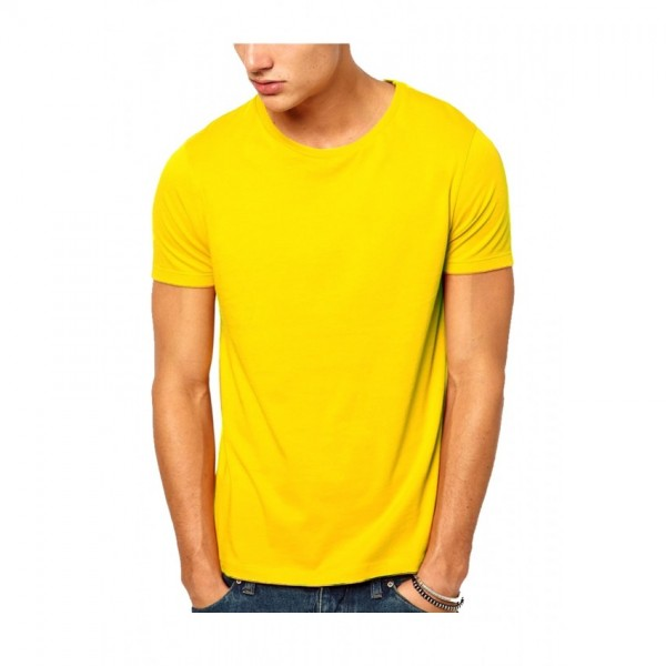 Plain Yellow T-Shirt For Him - FREE DELIVERY