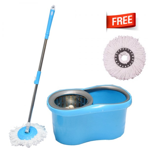 Alclean 360 Degree Heavy Quality Spin Mop With Double Bucket Dry Heavy Duty