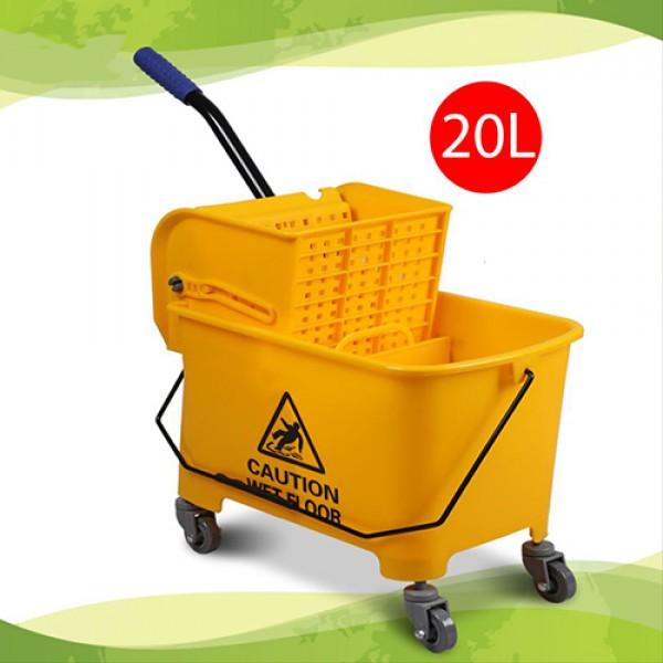 AlClean Deluxe Wringer Side Press Cleaning Mop Trolley Mop Bucket