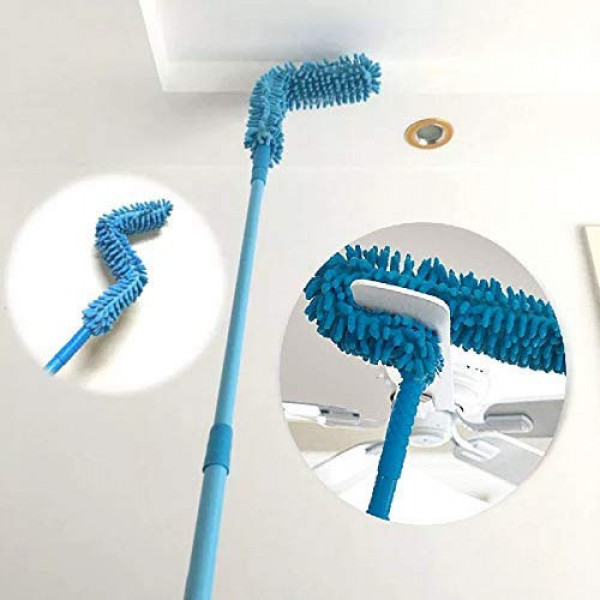 AlClean Micro Fiber Duster With Telescopic Stainless Steel Handle for Fan Cleaning Specially