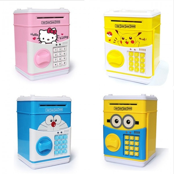 Mini Atm Money Saving Safety Box For Kids Atm Money Bank Piggy Bank Safe