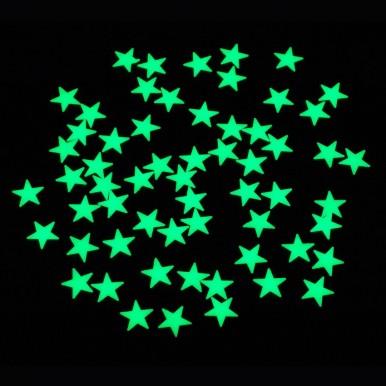Pack Of 200 - Fluorescent Night Glowing Stars Wall Sticker