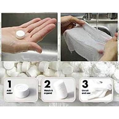 Magic Tissue - Compressed Towel Tissues - Pack of 100