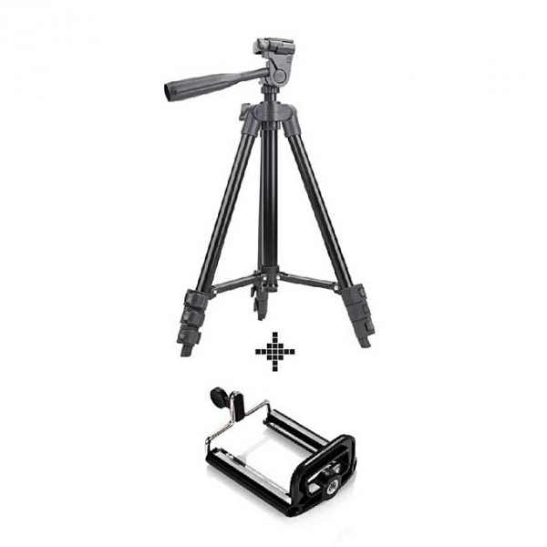 3120 - Tripod Stand with Mobile Holder - Black
