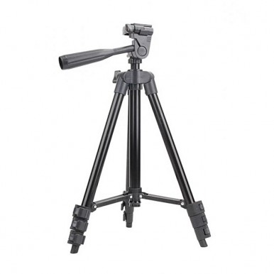 3120 - Tripod Stand with Mobile Holder & Shutter - Black