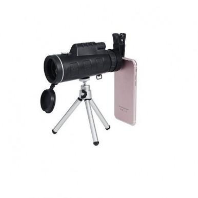 Panda Universal 40-60 Portable Focus Optical Binoculars Lens With Mini Tripod - Black