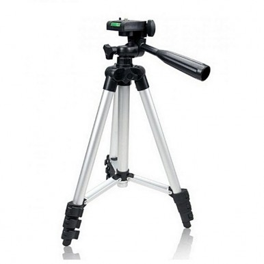 3110 - Tripod Stand with Mobile Holder & Shutter - Black & Silver