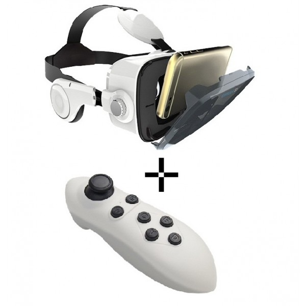 VR Z4 With T2 Wireless Game Pad 3.0 - White