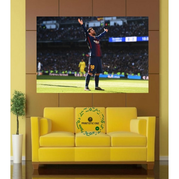 Messi the winning style Wall Poster