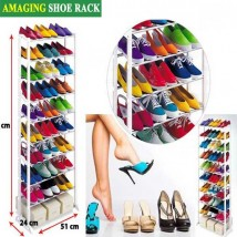 10 Tier Shoe Rack with 30 Pairs Shoes Storage