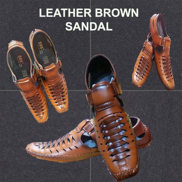 Leather Brown Colour Sandal NZ-10