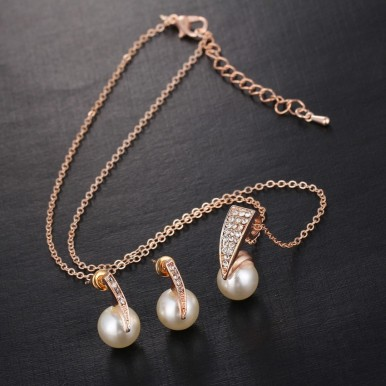 Fashion Imitation Pearl Jewellery Set for Women