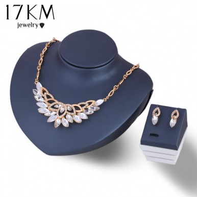 Flower Necklace Jewelry Set for Women
