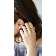 Charming Shiny rhinestone Plating Gold Bow Ring jewellery for women