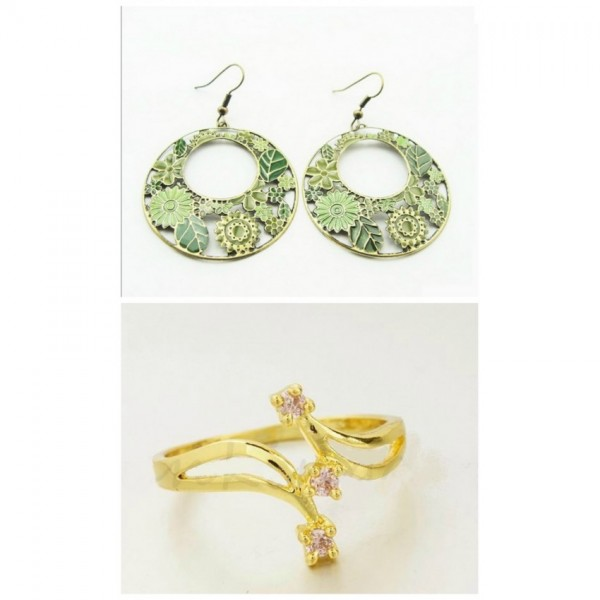 Hot New Year Deal Selling Earrings and Ring Limited Time Deal for her A112