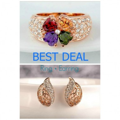 Earrings and Ring set For Her deal
