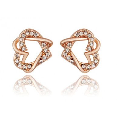 Gold Plated Crystal Earrings For Her