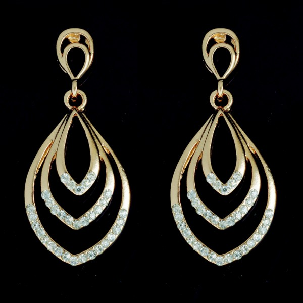 18k Gold Plated Filled Luxury Gorgeous Fashion Big Earrings