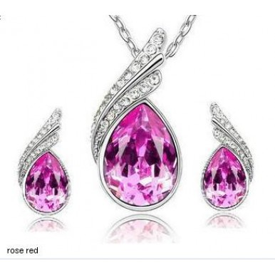Sale Offer - Water Drop Style Rhinestone Set For Womens
