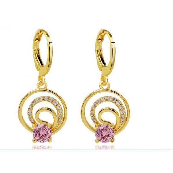 Latest Cute Drop Earrings Dangler In Pink Color For Women