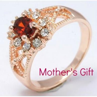 Classy Red Stone Ladies Ring