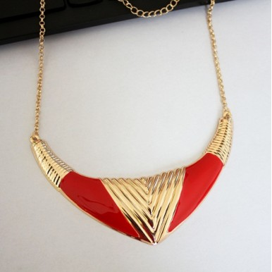 Fashionable Jewellery - Red Gold Fashion Necklace