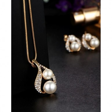 Luxury Double Simulated Pearl Jewellery Set