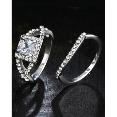 Zircon Crystals Ring in Silver