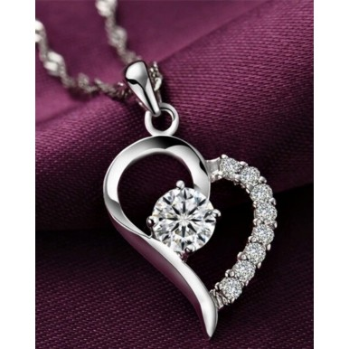 Silver Plated 925 Heart Pendent for her