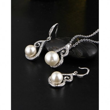Pearl Necklace Earring Jewelry Set