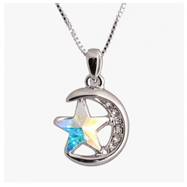 Moons Five-pointed Star Crystal Pendant For Her