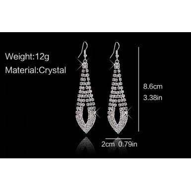 Special wedding party shiny rhinestone Crystal drop earrings